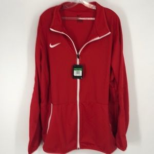 Nike Red Oversized Light Weight Zip-Up Jacket